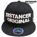 디스텐서(DISTANCER) [DISTANCER] ORIGINAL BLACK 스냅백 모자