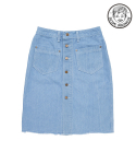 OPEN DENIM SKIRT Light-Blue [WOMEN]