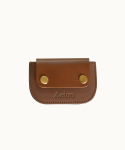 AEIOU JOY / CARDHOLDER (LEATHER GOLDEN BROWN)