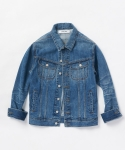 업스케일(UPSCALE) VINTAGE OVERSIZED DISTRESSED DENIM JACKET