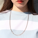 러쉬오프(RUSH OFF) [UNISEX]THE BASIC SILVER CHAIN NECKLACE / 베이직 실버체인 목걸이
