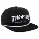 쓰레셔(THRASHER) ROPE SNAPBACK (BLACK)