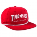 쓰레셔(THRASHER) ROPE SNAPBACK (RED)