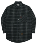 Oversize Tile Check Shirts - Gray