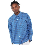 이즈오프(EASEOFF) DAE-025 BLUE CHECK SHIRT(UNISEX)