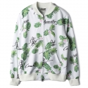 로맨틱크라운(ROMANTIC CROWN) [ROMANTICCROWN]TROPICAL LEAF BLOUSON_WHITE