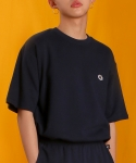 베이직코튼(BASIC COTTON) color logo top-navy