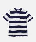 커버낫(COVERNAT) 16 S/S MIDDLE STRIPE T-SHIRTS NAVY