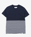 디스이즈네버댓() TWO TONE BORDER TEE NAVY