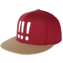 [Aiiight] Three Exclamation Snap Back Burgundy/Beige