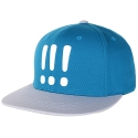 아잇(AIIIGHT) [Aiiight] Three Exclamation Snap Back Sky Blue/Gray