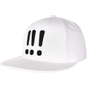[Aiiight] Three Exclamation Snap Back White