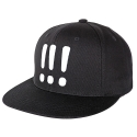 아잇(AIIIGHT) [Aiiight] Three Exclamation Snap Back Black