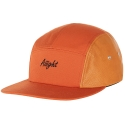 [Aiiight] Leather Mix Logo Camp Cap Orange