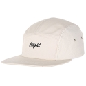 [Aiiight] Leather Mix Logo Camp Cap Ivory