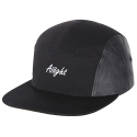 아잇(AIIIGHT) [Aiiight] Leather Mix Logo Camp Cap Black