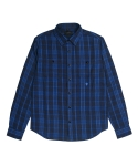 콰이트(QUITE) [콰이트] BGI Plaid Shirt (BLUE)
