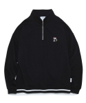 라이풀(LIFUL) LIFUL X PEANUTS 90s ZIP TURTLENECK SWEATSHIRT black