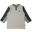 로맨틱크라운(ROMANTIC CROWN) [ROMANTICCROWN] F.F STRIPE 3/4 SHIRT_GREEN