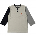 로맨틱크라운(ROMANTIC CROWN) [ROMANTICCROWN] F.F COLORBLOCK 3/4 SHIRT GRAY/NAVY