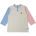 로맨틱크라운(ROMANTIC CROWN) [ROMANTICCROWN] F.F COLORBLOCK 3/4 SHIRT PINK/SKYBLUE