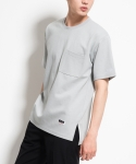 미나브(MINAV) [UNISEX] POCKET VENT T-SHIRT GREY