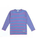 애터27(ATTA27) OVER STRIPE TEE _ SKYBLUE