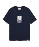 라이풀(LIFUL) LIFUL X PEANUTS CARTOON BOX TEE navy