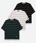 필루미네이트(FILLUMINATE) Oversize Stripe Layered Tee