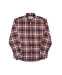 위캔더스(WKNDRS) PLAID SHIRT (ORANGE)