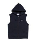 위캔더스(WKNDRS) W LOGO HOODED VEST (NAVY)
