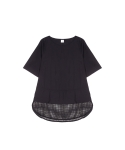메리먼트(MERRIMENT) MESH BLOUSE (2COLOR)