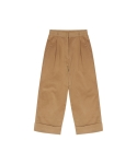TURN UP PANTS (BEIGE)