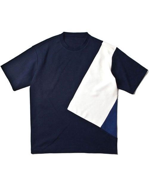 레이지_COLOR LINE T-SHIRTS NAVY