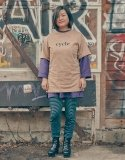 스웨트펑크(SWEATFUNK) Short tee_Beige
