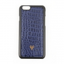 iPhone_Crocodile skin Navy blue