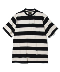 유니폼브릿지(UNIFORM BRIDGE) 17ss 10s heavyweight stripe tee black