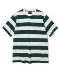 유니폼브릿지(UNIFORM BRIDGE) 17ss 10s heavyweight stripe tee green