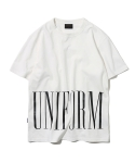 유니폼브릿지(UNIFORM BRIDGE) 16ss uniform logo tee off white