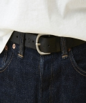 갓타헌치(GOTTA HUNCH) POINT LEATHER BELT- BLACK