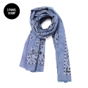 Paisley 3 Panel Scarf Chambray Blue