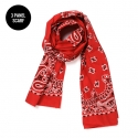 Paisley 3 Panel Scarf Red