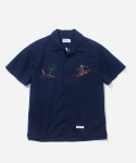 커버낫(COVERNAT) SOUVENIR SHIRTS NAVY