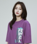 시에스타(SIESTA) FERMATA GRAPHIC HALF T [PURPLE]