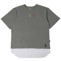 로맨틱크라운(ROMANTIC CROWN) [ROMANTICCROWN]0909 LAYERD PK 1/2 WIDE SHIRT_GRAY