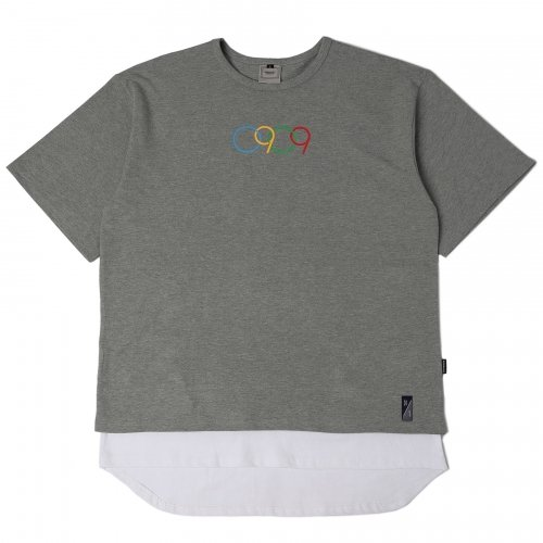 로맨틱크라운_[ROMANTICCROWN] 0909 LAYERD PK 1/2 WIDE SHIRT_GRAY