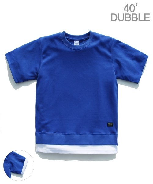 제멋_[제멋]Layered rollup t-shirts blue(2026)
