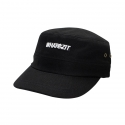BASIC WHATEZIT ALL BLACK ARMY CAP 3PANNEL