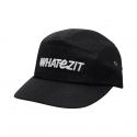 BASIC WHATEZIT ALL BLACK CAMP CAP 5PANNEL