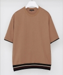드로우핏(DRAW FIT) 16SS Banded Line T-shirts_Beige
